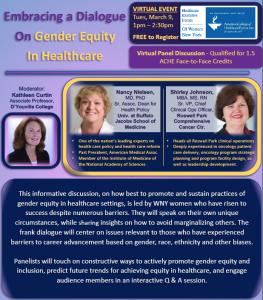 Gender Equity in Healthcare 3-9-21